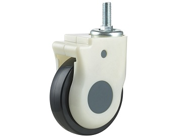 Medical Caster with TPU Wheel Swivel Threaded Stem